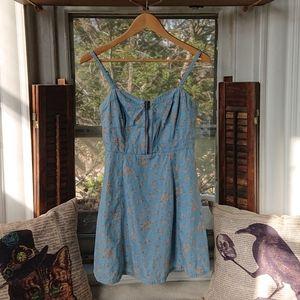 XXI Denim Floral Mini Dress